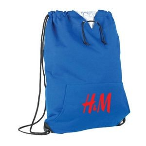 "Jersey Sweatshirt Drawstring Bag 15""w x 19"" h"