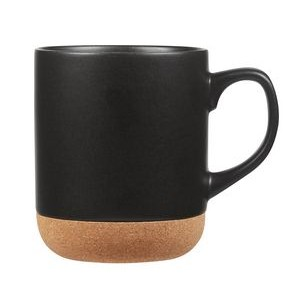 14 oz. Corky matte glazed ceramic mug with cork bottom