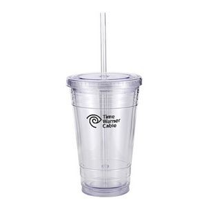 16 Oz. Slurpy Tumbler gift boxed with 5.5 Oz. Bag of Peach Ice Tea Mix