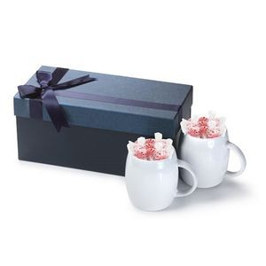 Two 14 Oz. Ceramic Mug In Blue Gift Box