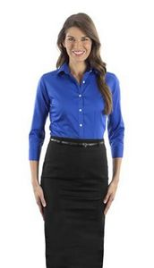 Van Heusen Ladies Dress Twill 3/4 Sleeve Shirt