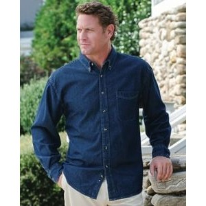 Jonathan Corey® Long Sleeve Denim Shirt