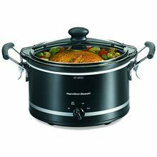 Hamilton Beach 4 qt Oval Stay or Go Slow Cooker