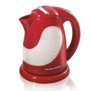 Hamilton Beach-Ensemble Red Cordless Kettle