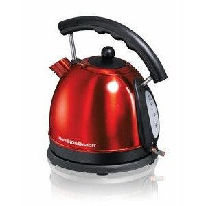 Hamilton Beach - KETTLES - 1.7L Red SS Dome Kettle