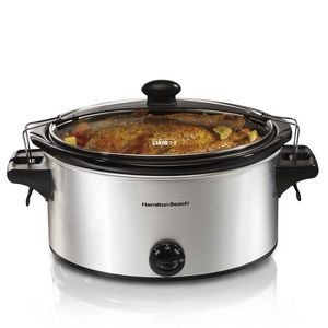 Hamilton Beach-Stay or Go 6 qt. SC, silver