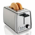 Custom Hamilton Beach 22791 2 Slice Modern Chrome Toaster