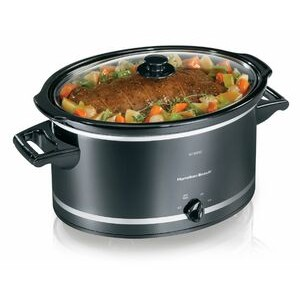 Hamilton Beach - SLOW COOKERS - 8 QT OVAL SLOW COOKER-BLK&SLVR