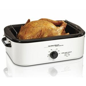 Hamilton Beach-18 qt roaster oven, white, eng graphics