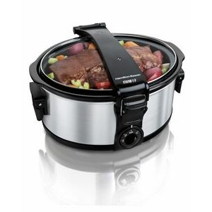 Hamilton Beach-Stay or Go single clip 6 qt Slow cooker