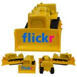 Custom 1/64 Scale Bulldozer—Yellow with Full Color Graphics