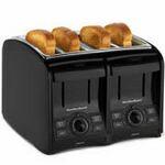 Custom Hamilton Beach 4 Slice, Cool Touch, 4 Function Toaster, Black