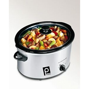Hamilton Beach 5 qt Classic Chrome - Oval Slow Cooker