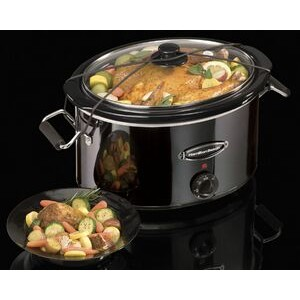Hamilton Beach - SLOW COOKERS - 7 QT OVAL BLACK ICE SLOW CKR