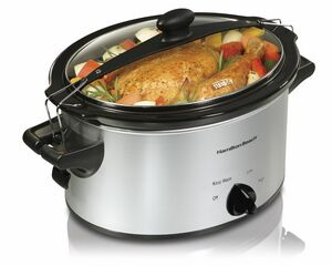 Hamilton Beach-Stay or Go 4 qt, Silver