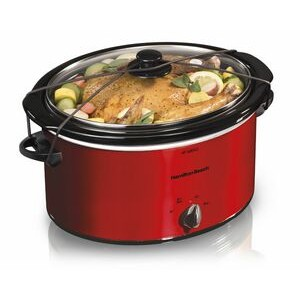 Hamilton Beach-5 QT RED OVAL SLOW COOKER