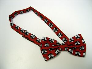 100 percent Polyester Bow Tie w/Custom Design - Pretied and banded