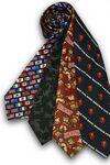 Custom 100 percent Polyester Wet Dye Tie