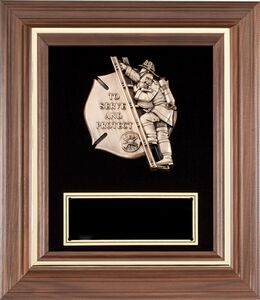 American Walnut Frame W Fireman Casting Black Velour