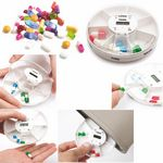 Custom Weekly Digital Medical Vitamin Pill Box With Timer Alarm Clock
