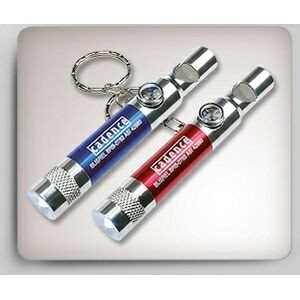 Power Whistle w/ LED Light/ Compass and Key Chain