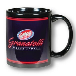 Black Full Color C Handle Mug - 11 Oz.