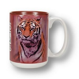 White with Burgundy Interior El Grande Mug - 15 oz.