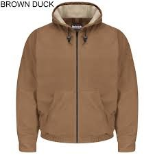 Brown Duck Hooded Jacket-Excel FR Comfortouch