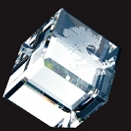 Custom Beveled Diamond Cube Paperweight - Medium
