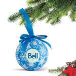 Custom Shatterproof Ball Ornament (Blue) with Gift Box