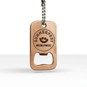 Custom Shape Dog Tag Bottle Opener