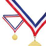 Custom Tricolor Medal Ribbon attache