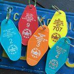 Custom Custom Printed Classic Hotel Motel Key Tags or Key Chain