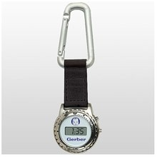 Digiclipz Silver Carabiner Clip w/ Digital Pocket Watch