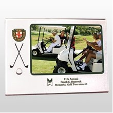 Easel Golf Picture Frame w/ Club & Ball