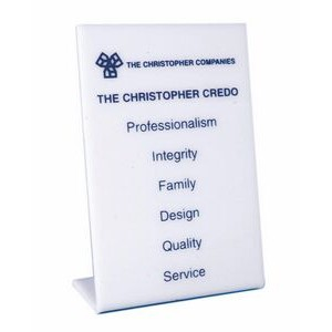 "Acrylic Mission Statement Easel Plaque (4""x6"")"