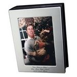 Custom Brushed Silver Standing Photo Album