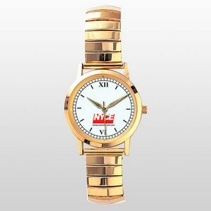 Bestseller Series Gold Watch w/ Twist Expansion Bands