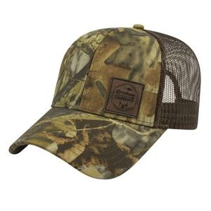 Solid Color Mesh Back Camo Cap