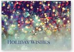 Custom Prismatic Wish Holiday Card w/Unlined White Fastick Envelope