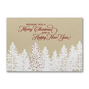 Rustic Christmas Forrest Holiday Card