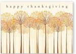 Custom Thankful Trees Thanksgiving Card w/Gold Lined Ecru Envelope