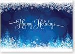 Custom Snowy Glow Holiday Card w/Unlined White Envelope