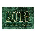 Custom Marble Splendor Calendar Card w/Gold Lined Envelope