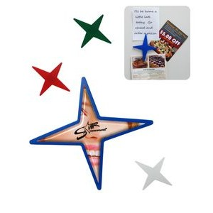 Star Shaped Magnetic Memo Clip – Full Color