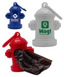 Custom Fire Hydrant Shaped Dog Waste Bag Holder w/Carabiner