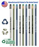 Custom USA Made, Recycled Pencils with Eraser