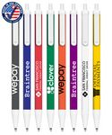 Custom Certified Click Stick Pen - Colors with White Trim