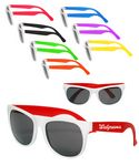 Custom Economy Two Tone White Sunglasses