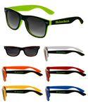 Custom Two Color Black Malibu Sunglasses